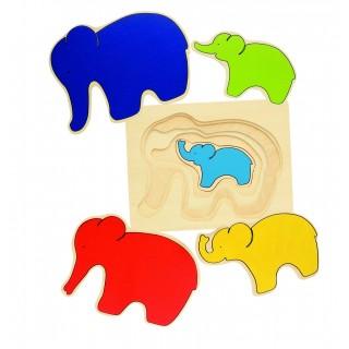 """Puzzle in straturi """"Elefantii"""""""