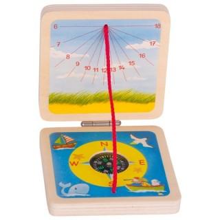 Cadran solar cu busola