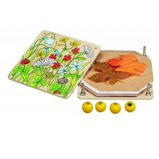 Presa din lemn pentru flori si frunze
