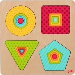 "Puzzle in straturi ""Forme geometrice"""