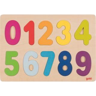 """Puzzle incastru """"Numerele 0-9"""" (II)"""