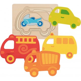 """Puzzle in straturi """"Mijloace de transport"""""""