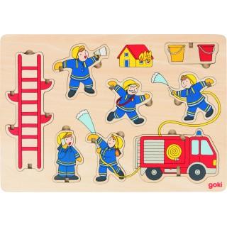 """Puzzle si joc de echilibru """"Pompierii"""""""