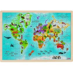"""Puzzle incastru din lemn """"In jurul lumii"""""""