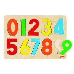"""Puzzle incastru """"Numerele 0-9"""""""
