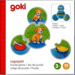 Puzzle si joc de asociere cu animale