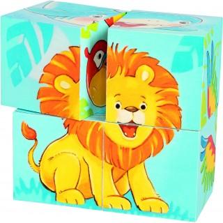 """Cuburi cu puzzle """"Animale dragalase"""""""