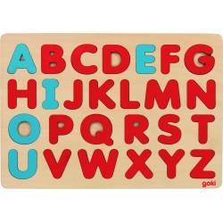 Puzzle Alfabet in stil Montessori