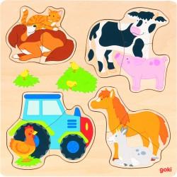 """Puzzle incastru """"Ferma animalelor"""""""