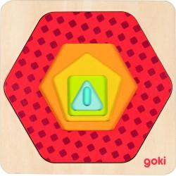 """Mini puzzle in straturi """"Forme geometrice"""""""