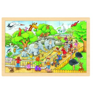 """Puzzle incastru """"O vizita la Zoo"""""""