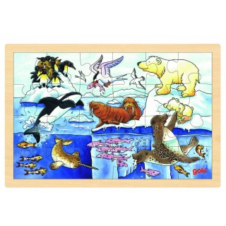 "Puzzle incastru ""Animale polare"""