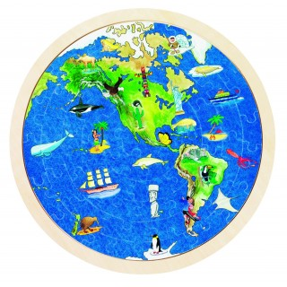 """Puzzle harta """"Globul pamantesc"""""""