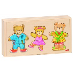 """Puzzle din lemn """"Imbraca ursuletii"""""""