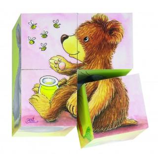 """Cuburi cu puzzle """"Pui de animale"""""""