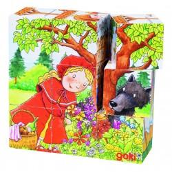 """Cuburi cu puzzle """"Imagini din povesti"""""""
