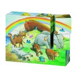 """Cuburi cu puzzle """"Arca lui Noe"""""""