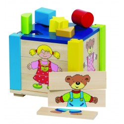 Cutie cu puzzle pentru sortarea formelor