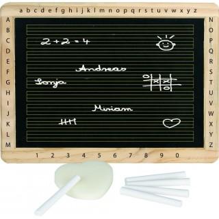 Tabla de scris pentru copii cu burete si creta (alfabet si cifre)