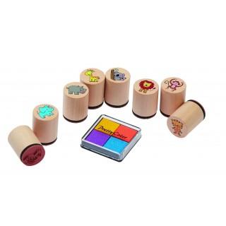Stampile din lemn cu tusiera