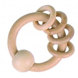 Inel tactil din lemn natur
