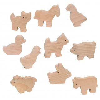 """Set animalute din lemn """"Mica ferma"""""""
