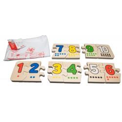 """Puzzle """"Numerele 1-10"""""""
