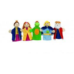 Marionete pentru degete cu capete din lemn