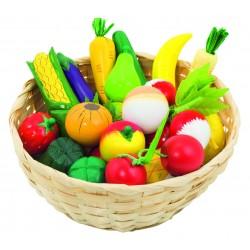 Fructe si legume din lemn in cos