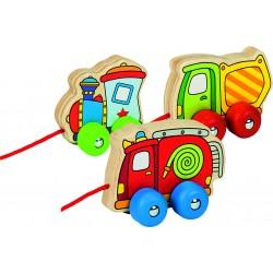 """Jucarie de tras """"masina de gunoi, de pompieri sau tren"""""""
