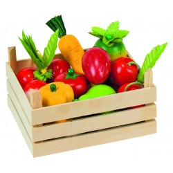 Fructe si legume din lemn in ladita