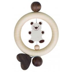 """Inel tactil din lemn natur """"Ursulet"""""""