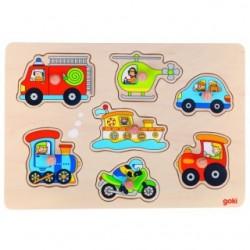 """Puzzle cu butoni """"Mijloace de transport"""""""