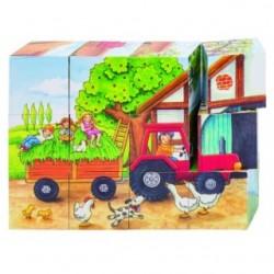 "Cuburi cu puzzle ""Viata la ferma"""