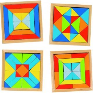 """Puzzle si joc de construit """"Forme si culori"""""""