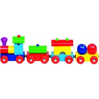 """Trenulet din lemn cu prindere magnetica """"Peru"""""""