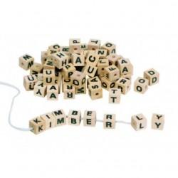 Cuburi cu litere pentru insirat si snuruit