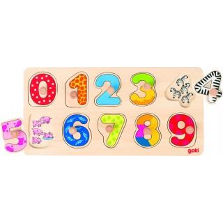 """Puzzle cu butoni """"Numerele"""""""