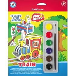 Acuarele Ek Artberry 6 Culori+2 Machete Cu Modele 3D Train