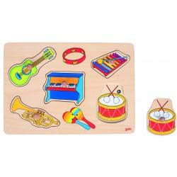"Puzzle cu sunete si butoni ""Instrumente muzicale"""