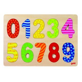 "Puzzle din lemn ""Invata cifrele"""