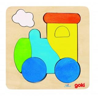 """Puzzle cu 6 piese """"Locomotiva"""""""