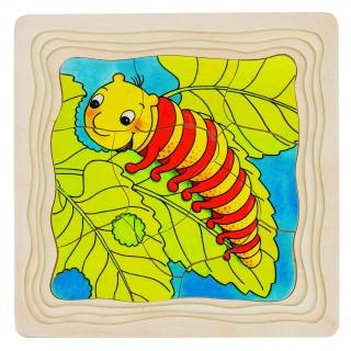 "Puzzle in straturi ""De la omida la fluture"""
