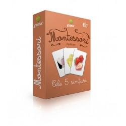 "Carduri Montessori ""Cele 5 simturi"""