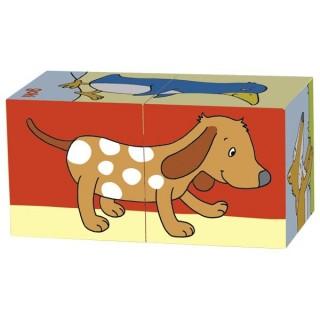 """Cuburi cu puzzle """"Animalute"""""""